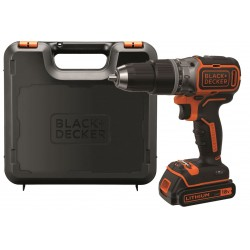 Black+Decker Trapano/Avvitatore a Percussione 18V Litio 1.5Ah Tecnologia Brushless