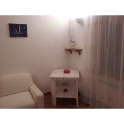 Tavolino Spazzolato Bianco
