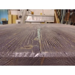 Piano Tavolo in Massello Effetto Ossidato Cenere
