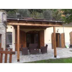Pergola con Tenda rollo con cassonetto